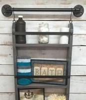 Amazing Bathroom Shelf Ideas With Industrial Farmhouse Towel Bar Tips For Buying It 04