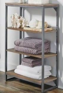 Amazing Bathroom Shelf Ideas With Industrial Farmhouse Towel Bar Tips For Buying It 05