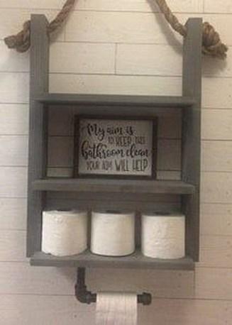 Amazing Bathroom Shelf Ideas With Industrial Farmhouse Towel Bar Tips For Buying It 13