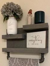 Amazing Bathroom Shelf Ideas With Industrial Farmhouse Towel Bar Tips For Buying It 15