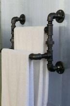Amazing Bathroom Shelf Ideas With Industrial Farmhouse Towel Bar Tips For Buying It 17