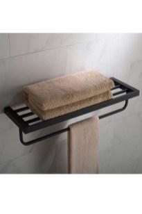 Amazing Bathroom Shelf Ideas With Industrial Farmhouse Towel Bar Tips For Buying It 18