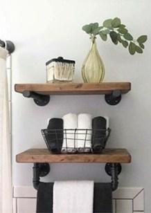 Amazing Bathroom Shelf Ideas With Industrial Farmhouse Towel Bar Tips For Buying It 20