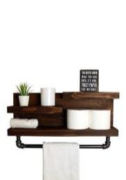 Amazing Bathroom Shelf Ideas With Industrial Farmhouse Towel Bar Tips For Buying It 29