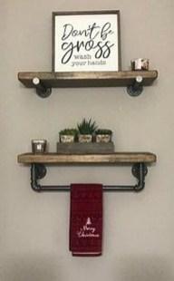 Amazing Bathroom Shelf Ideas With Industrial Farmhouse Towel Bar Tips For Buying It 31