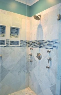 Chic Blue Shower Tile Design Ideas For Your Bathroom 02