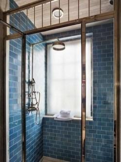 Chic Blue Shower Tile Design Ideas For Your Bathroom 05