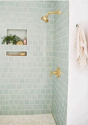 Chic Blue Shower Tile Design Ideas For Your Bathroom 09