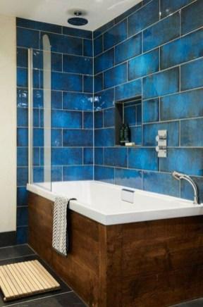 Chic Blue Shower Tile Design Ideas For Your Bathroom 16