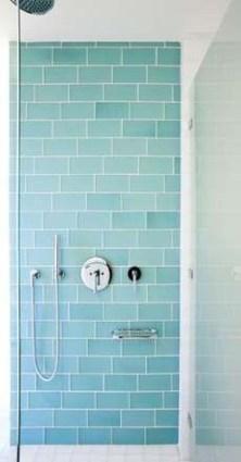 Chic Blue Shower Tile Design Ideas For Your Bathroom 25
