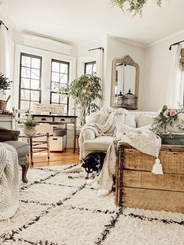 Comfy Farmhouse Living Room Decor Ideas To Copy Asap 34