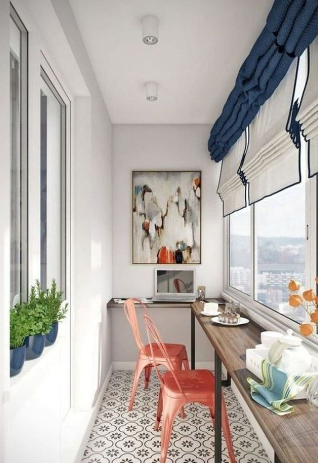 Enchanting Balcony Decoration Ideas For Apartment For A Cleaner Look 02