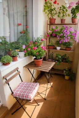 Enchanting Balcony Decoration Ideas For Apartment For A Cleaner Look 27