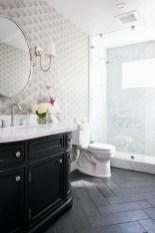 Fantastic Black Floor Tiles Design Ideas For Modern Bathroom 10