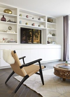 Inexpensive Home Cabinet Design Ideas For Cozy Family Room On A Budget 10