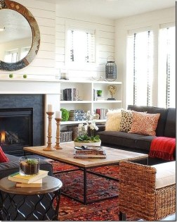 Inexpensive Home Cabinet Design Ideas For Cozy Family Room On A Budget 21