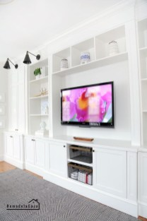 Inexpensive Home Cabinet Design Ideas For Cozy Family Room On A Budget 30