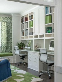 Popular Home Office Cabinet Design Ideas For Easy Organization Storage 05