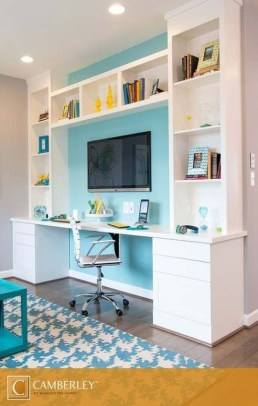 Popular Home Office Cabinet Design Ideas For Easy Organization Storage 08