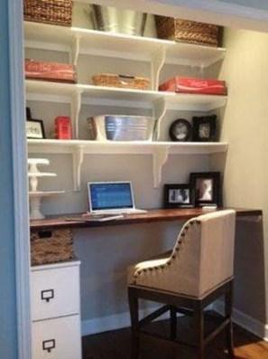 Popular Home Office Cabinet Design Ideas For Easy Organization Storage 26
