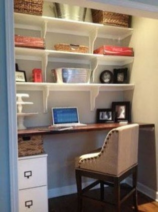 Popular Home Office Cabinet Design Ideas For Easy Organization Storage 26