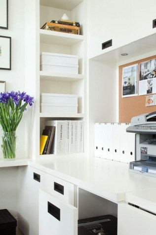 Popular Home Office Cabinet Design Ideas For Easy Organization Storage 34