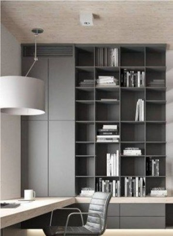 Popular Home Office Cabinet Design Ideas For Easy Organization Storage 36