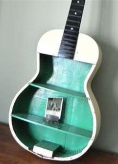 Dreamy Racks Design Ideas From Recycle Old Guitars To Try Asap 01