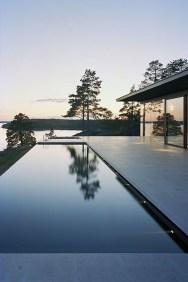 Elegant Black Swimming Pool Design Ideas That All Men Must Know 07