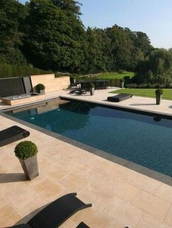 Elegant Black Swimming Pool Design Ideas That All Men Must Know 25