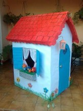 Enchanting Cardboard Playhouse Design Ideas For Kids That You Will Love It 03