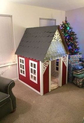Enchanting Cardboard Playhouse Design Ideas For Kids That You Will Love It 08