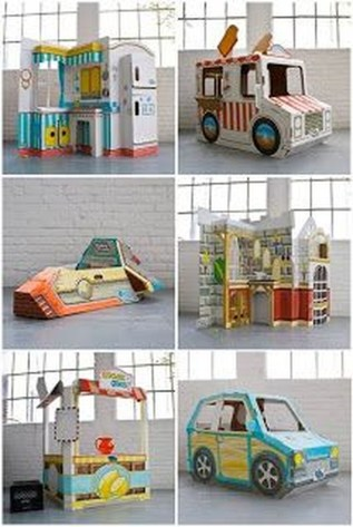 Enchanting Cardboard Playhouse Design Ideas For Kids That You Will Love It 26