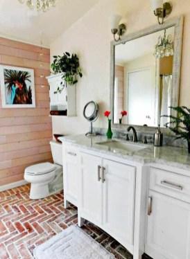 Modern Bathroom Design Ideas With Exposed Brick Tiles 07
