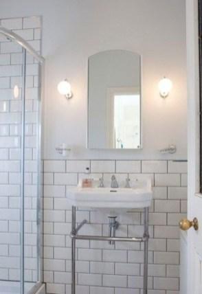 Modern Bathroom Design Ideas With Exposed Brick Tiles 12