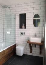 Modern Bathroom Design Ideas With Exposed Brick Tiles 22