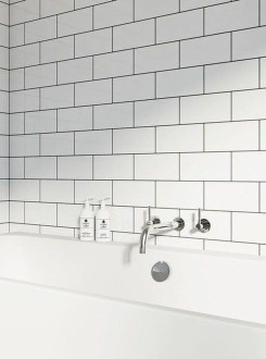 Modern Bathroom Design Ideas With Exposed Brick Tiles 28