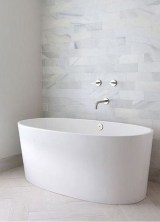 Modern Bathroom Design Ideas With Exposed Brick Tiles 33