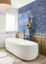 Modern Bathroom Design Ideas With Exposed Brick Tiles 34