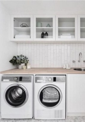 Unusual Laundry Arranging Design Ideas For Small Space To Try 06