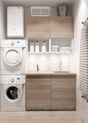 Unusual Laundry Arranging Design Ideas For Small Space To Try 36