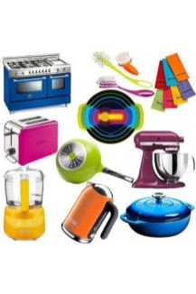 Adorable Rainbow Colorful Kitchens Design Ideas To Looks More Awesome 01