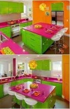 Adorable Rainbow Colorful Kitchens Design Ideas To Looks More Awesome 16