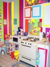 Adorable Rainbow Colorful Kitchens Design Ideas To Looks More Awesome 17