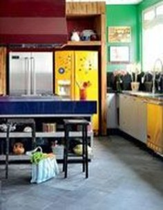 Adorable Rainbow Colorful Kitchens Design Ideas To Looks More Awesome 30