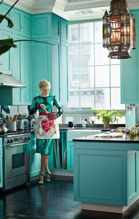 Adorable Rainbow Colorful Kitchens Design Ideas To Looks More Awesome 39