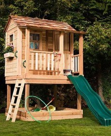 Attractive Outdoor Kids Playhouses Design Ideas To Try Right Now 06