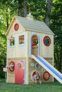 Attractive Outdoor Kids Playhouses Design Ideas To Try Right Now 28