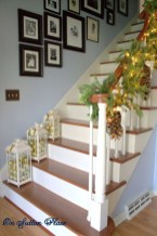 Charming Winter Staircase Design Ideas With Banister Ornaments To Try Asap 14