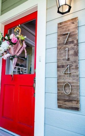 Cool Diy House Number Projects Design Ideas That Looks More Elegant 07